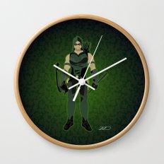 Green Arrow Wall Clock