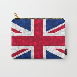 Union Jack Flag Distressed Carry-All Pouch