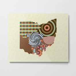 Ohio State Map Metal Print