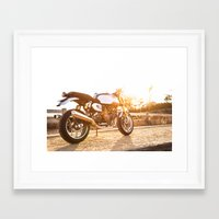 ducati Framed Art Prints featuring Ducati 007 by Austin Winchell