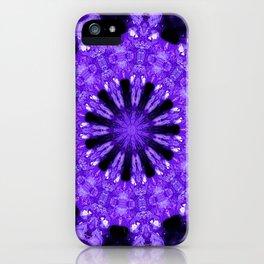 Geode Mandala in Purple iPhone Case