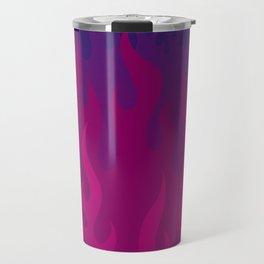 Purple Flames Travel Mug