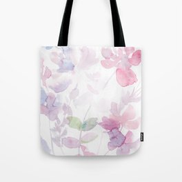 Blooming blush and purple watrclolor Tote Bag
