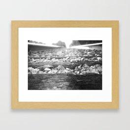 B&W RailRoad Framed Art Print