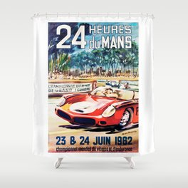 Le Mans 1962 Vintage Poster T Shirt Shower