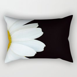 Hello Daisy - White Flower Black Background #decor #society6 #buyart Rectangular Pillow