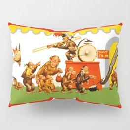 Retro Circus Poster - Monkeys Pillow Sham