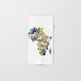 Map of Africa Hand & Bath Towel