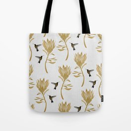 Hummingbird & Flower I Tote Bag