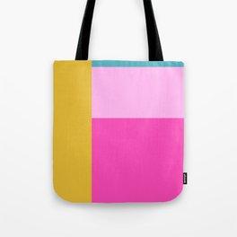 Geometric Bauhaus Style Color Block in Bright Colors Tote Bag