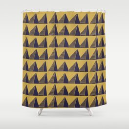 Triangle Tribal Pattern Shower Curtain