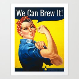 Rosie the Brewer Art Print