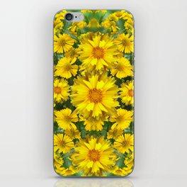YELLOW COREOPSIS FLOWERS GREEN GARDEN iPhone Skin