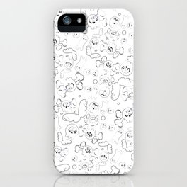 Skulls and ghosts pattern iPhone Case