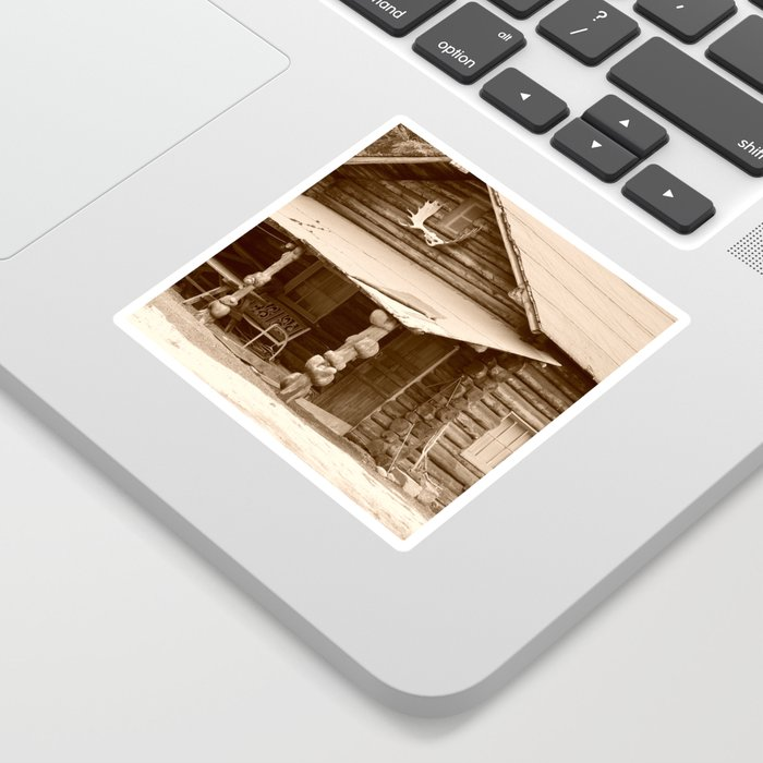 Old Log Cabin Sticker