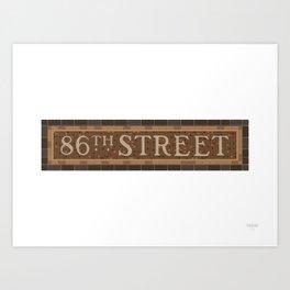 86 Street Art Print