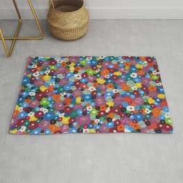 Bed of Flowers Rug