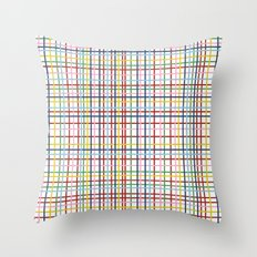 Rainbow Weave Throw Pillow