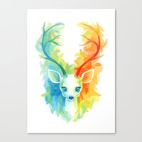 feather Canvas Prints featuring Feather Fawn by Freeminds