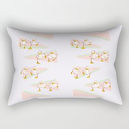 Ducklings on the Run Rectangular Pillow