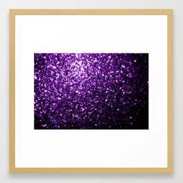 Beautiful Dark Purple glitter sparkles Framed Art Print