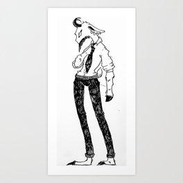 A Good, Kind Buisness Fellow Art Print
