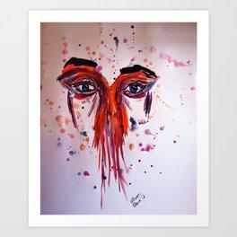 Colored Sadness  Art Print