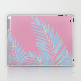 Palm Leaves Blue And Pink Laptop & iPad Skin