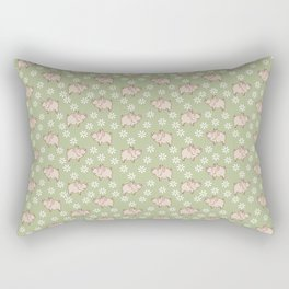 pig in the meadow Rectangular Pillow