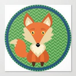 Fox Patch Canvas Print