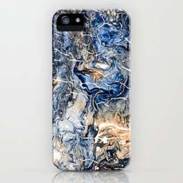 Breaking Waves Abstract Painting iPhone Case