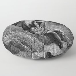 Gustave Dore - Paradise Lost Satan Profile Floor Pillow