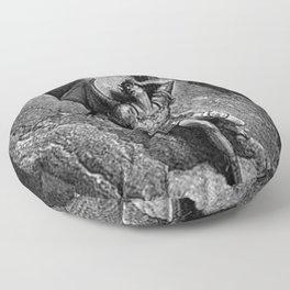Gustave Dore - Paradise Lost Satan Profile Floor Pillow