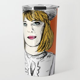 Pauline on Orange Travel Mug