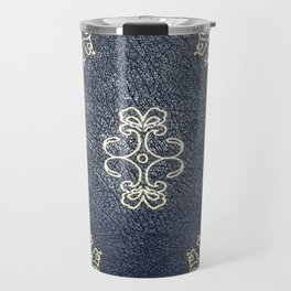 Gilded Gold and Blue Book Travel Mug