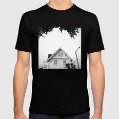 Whit House White Sky Black Mens Fitted Tee MEDIUM
