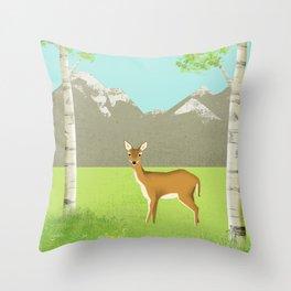 Alpine Meadow Throw Pillow