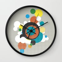 bubbles Wall Clocks featuring bubbles by Heinz Aimer