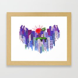 Island Living Can Get Lonely Framed Art Print