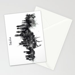 Boston Skyline Black and White Stationery Cards
