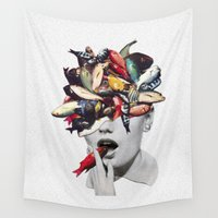eugenia loli Wall Tapestries featuring Ωmega-3 by Eugenia Loli