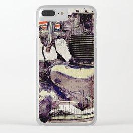 Triumph Bonneville Engine Clear iPhone Case