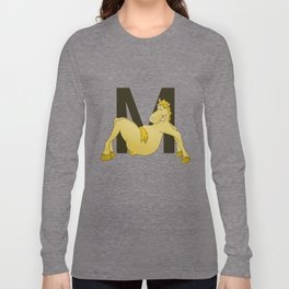 Pony Monogram Letter m Long Sleeve T-shirt