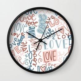 love, love, love Wall Clock