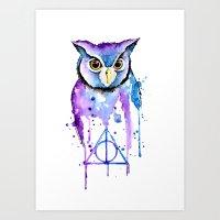 hedwig Art Prints featuring Hedwig by Simona Borstnar