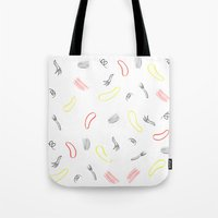 fight Tote Bags featuring Fight  by Rocky Raccoon