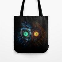 majora Tote Bags featuring Majora Mask  by DavinciArt