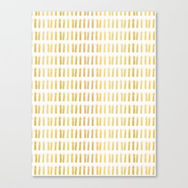Luxe Gold Light a Candle Pattern, Hand Drawn Seamless Vector Illustration Canvas Print