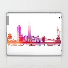 NYC purple Laptop & iPad Skin