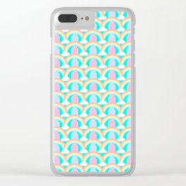 Cinderella Castle Mermaid Scale Pattern Clear iPhone Case